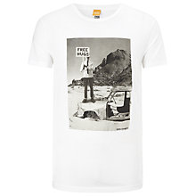 Buy BOSS Orange Tavey Printed T-Shirt, White Online at johnlewis.com