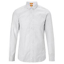 Buy BOSS Orange Cabue Geo Print Shirt, White Online at johnlewis.com