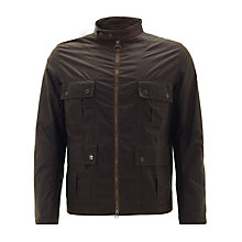 Buy Barbour International Chico Waxed Jacket, Olive Online at johnlewis.com