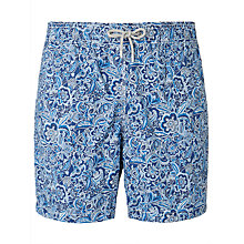 Buy Hackett London Paisley Swim Shorts, Blue Online at johnlewis.com