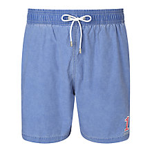Buy Hackett London No1 Chambray Cotton Blend Swim Shorts, Blue Online at johnlewis.com