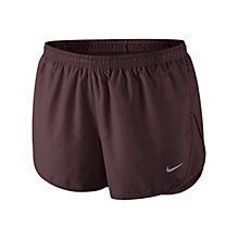 Buy Nike Modern Tempo Embossed Running Shorts, Deep Burgundy Online at johnlewis.com