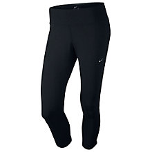 Buy Nike Epic Lux Three-Quarter Running Tights, Black Online at johnlewis.com