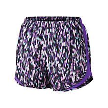 Buy Nike Printed Modern Tempo Running Shorts, Magenta/Hyper Grape Online at johnlewis.com