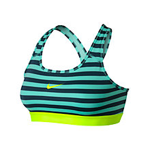 Buy Nike Pro Classic Stripe Sports Bra Online at johnlewis.com