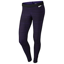 Buy Nike Leg-A-See Stripe Running Tights, Court Purple/Black Online at johnlewis.com