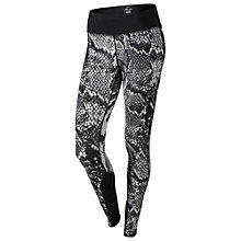 Buy Nike Epic Lux Printed Cropped Running Tights, Light Ash Grey/Black Online at johnlewis.com