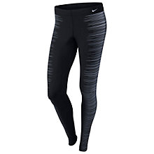 Buy Nike Printed Reflective Running Tights, Black/Reflective Silver Online at johnlewis.com