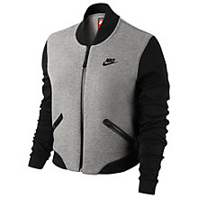 Buy Nike Tech Fleece 3mm Bomber Jacket, Dark Grey Heather/Black Online at johnlewis.com