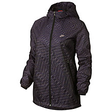 Buy Nike Grid Print Windrunner Hoodie, Black Online at johnlewis.com