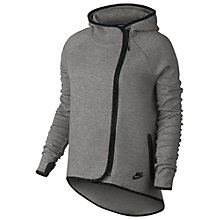 Buy Nike Tech Cape Hoodie, Dark Grey Heather/Black Online at johnlewis.com