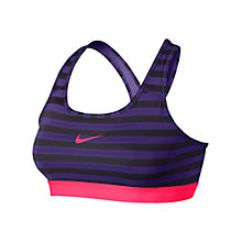 Buy Nike Pro Classic Stripe Sports Bra, Court Purple/Cave Purple Online at johnlewis.com