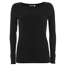 Buy Mint Velvet Skinny Knit Top, Black Online at johnlewis.com