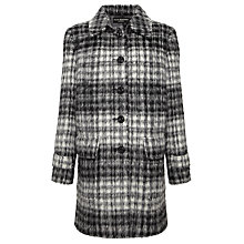 Buy Four Seasons Check Car Coat, Black/White Online at johnlewis.com