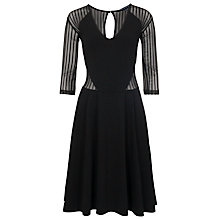 Buy French Connection Liv Jersey Flare Dress, Black Online at johnlewis.com