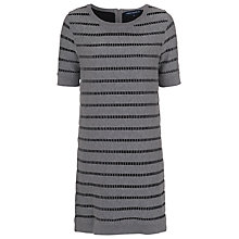 Buy French Connection Una Knits Short Sleeve Dress, Grey Mel/Black Online at johnlewis.com
