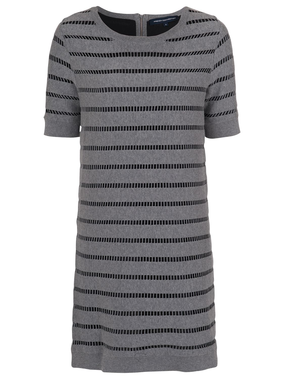 french connection una knits short sleeve dress grey mel/black, french, connection, una, knits, short, sleeve, dress, grey, mel/black, french connection, 14|10|6|16|8|12, clearance, womenswear offers, womens dresses offers, women, inactive womenswear, new reductions, womens dresses, special offers, 1694052
