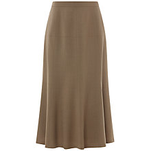 Buy Jaeger Flare Flannel Skirt, Camel Online at johnlewis.com