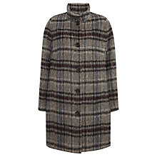 Buy Four Seasons Check Coat, Grey/Rust Online at johnlewis.com