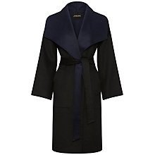 Buy Jaeger Double Face Wrap Coat, Navy / Black Online at johnlewis.com