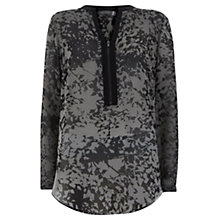 Buy Mint Velvet Nikki Zip Front Blouse, Multi Online at johnlewis.com