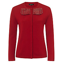 Buy Jaeger Sparkle Bow Neck Cardigan Online at johnlewis.com