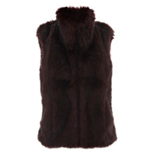 Buy Mint Velvet Faux Fur Gilet, Merlot Online at johnlewis.com