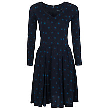 Buy French Connection Nightsky Spot Flare Dress, Utility Blue Multi Online at johnlewis.com