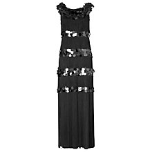 Buy Phase Eight Noleen Fringed Maxi Dress, Black Online at johnlewis.com