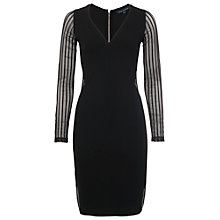 Buy French Connection Liv Jersey Fitted Dress, Black Online at johnlewis.com
