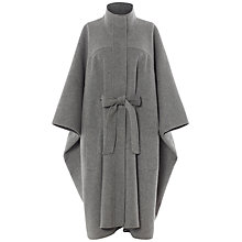 Buy Jaeger Double Face Cape, Grey Melange Online at johnlewis.com