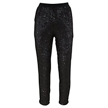 Buy Mint Velvet Sequin Peg Trousers, Black Online at johnlewis.com