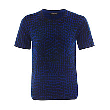 Buy Jaeger Abstract Print Tee, Navy / True Blue Online at johnlewis.com
