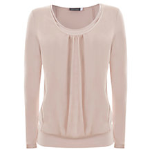 Buy Mint Velvet Double Front Tee, Pale Pink Online at johnlewis.com