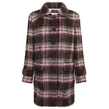 Buy Four Seasons Check Car Coat, Pink Online at johnlewis.com