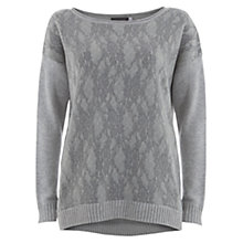 Buy Mint Velvet Gey Mix Knit Top, Silver Grey Online at johnlewis.com