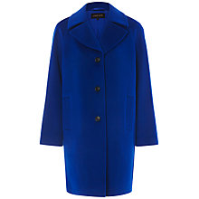Buy Jaeger Three Button Wool Coat, True Blue Online at johnlewis.com
