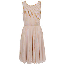 Buy French Connection Atlantic Wave Flared Dress, Sweet Almond Online at johnlewis.com