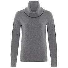 Buy Jaeger Cashmere Cowl Neck Jumper, Light Grey Melange Online at johnlewis.com
