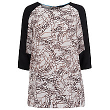 Buy French Connection Stellar Ice Silk Tunic Top, Winter White Multi / Black Online at johnlewis.com