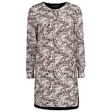 Buy French Connection Stellar Ice Silk Tunic Dress, Winter White Multi / Black Online at johnlewis.com