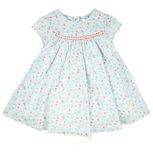 Buy John Lewis Baby Ditsy Floral Dress, Blue Online at johnlewis.com