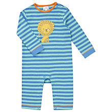 Buy John Lewis Lion Stripe Sleepsuit, Blue Online at johnlewis.com