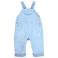 Buy John Lewis Baby Corduroy Stripe Dungarees, Blue Online at johnlewis.com