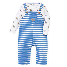 Buy John Lewis Print & Stripe Dungaree Set, Blue Online at johnlewis.com