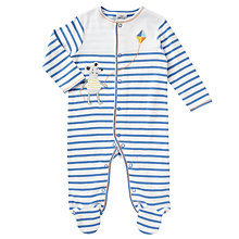 Buy John Lewis Baby Mouse Stripe Sleepsuit, Blue Online at johnlewis.com