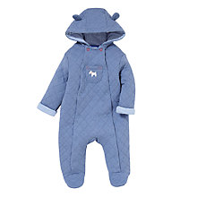 Buy John Lewis Wadded Bodysuit, Blue Online at johnlewis.com