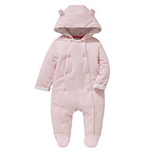 Buy John Lewis Baby Wadded Snowsuit, Pink Online at johnlewis.com