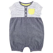 Buy Kin by John Lewis Woven Jersey Romper, Grey Online at johnlewis.com