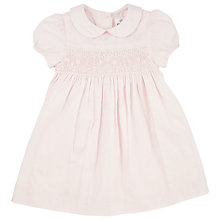 Buy John Lewis Smocked Dress, Pink Online at johnlewis.com